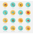 Shopping E-commerce Icons Flat vector image