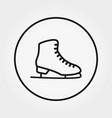 skates icon editable thin vector image vector image