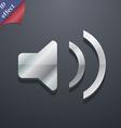 Speaker volume Sound icon symbol 3D style Trendy vector image
