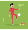 Sport Concept in Flat Design vector image vector image