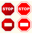 stop sign set vector image
