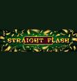 straight flush online poker casino vector image