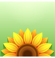 Stylish green background with 3d sunflower vector image
