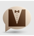 Tuxedo with bow silhouette Brown gradient icon on vector image vector image