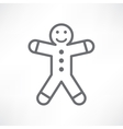 White gingerbread man vector image vector image