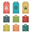 winter holiday gift tag template vector image vector image