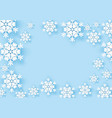 winter snowflake greeting banner with blue vector image
