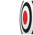 Black round target with red center isolated vector image