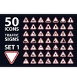 collection of traffic warning sign red vector image
