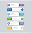 6 infographic timeline template business concept vector image vector image