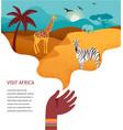 africa banner safari vector image vector image