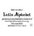 alphabet calligraphic font unique custom vector image