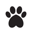 animals dogs paw print with heart vector image vector image
