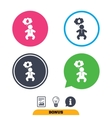Baby infant sign icon Toddler boy symbol vector image vector image