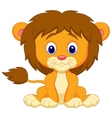 Baby lion cartoon sitting vector image vector image