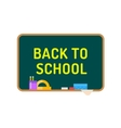 Back to school background Cute cartoon boy and vector image vector image