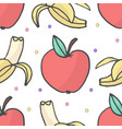 banana and apple seamless pattern vector image