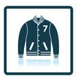 Baseball jacket icon vector image vector image