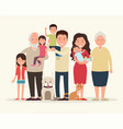 big family together parents and children vector image vector image