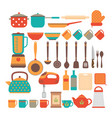 big set of kitchen utensils home appliances for vector image vector image