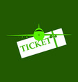 boarding pass icon image design vector image