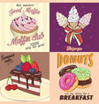 cards with sweets vector image