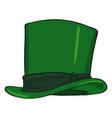 cartoon classic green cylinder hat vector image vector image