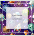 cartoon space colorful template vector image vector image