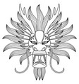chinese dragon head tattoo vector image