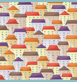 cityscape background in flat style vector image