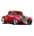 custom american red hot rod car vector image vector image