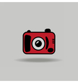 Cute colorful icon of digital camera vector image vector image