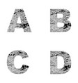 decorative letters a b c d vector image vector image