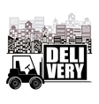 delivery service design vector image vector image