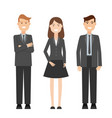 detailed characters people business people vector image vector image