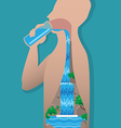 Drinking Water vector image vector image