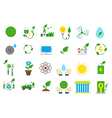 Eco isolated icons set vector image vector image