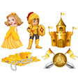 Fairytales set with knight and princess vector image vector image