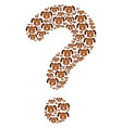 faq figure of puppy icons vector image