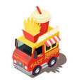 fast food machine icon isometric style vector image vector image