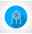 Flat icon for dream catcher vector image