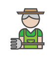 gardener avatar icon on white background vector image