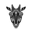 giraffe flat head silhouette vector image