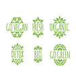 go vegan label vector image