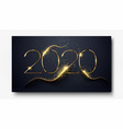 happy new year 2020 number 2020 written sparkling vector image