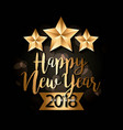 happy new year gold star and banner decoration vector image