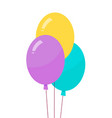 helium air balloons on thread vector image vector image