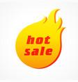 hot sale fire icon concept vector image