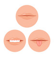 human mouth with tooth and tongue vector image vector image