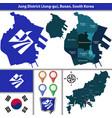 jung district busan city south korea vector image vector image
